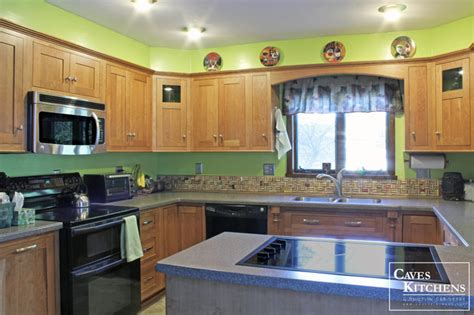 range cover kitchen transitional with brookhaven medium cherry transitional kitchen with stove top