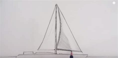 How To Draw A Boat Sailing by How To Draw A Sailing Boat Pencil Drawing