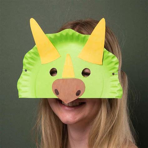paper plate dinosaur mask dinosaur crafts kids dinosaur