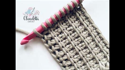 tunisian crochet rib stitch beginner youtube