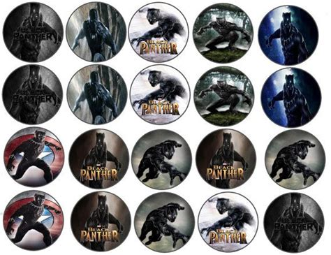 cup marvel template black panther marvel edible images cupcake cookie toppers