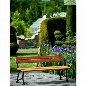 Banc En Teck : banc de jardin en bois couleur teck et aluminium 150cm maison de la tendance ~ Teatrodelosmanantiales.com Idées de Décoration