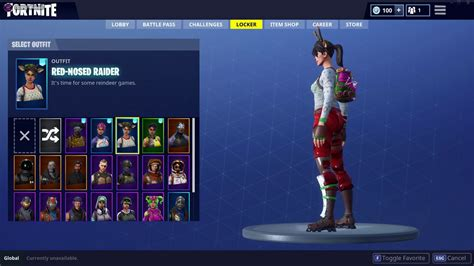 super rare fortnite account  red nose raider