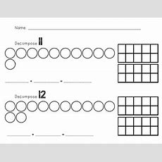 Decomposing Teen Numbers Worksheets By Hillary Satkowiak Tpt