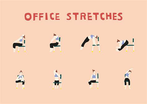 Found this in facebook and thought of sharing this with you. Office Stretches on Behance