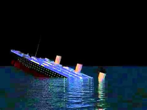 titanic sinking animation pitch black rms titanic sinking real time how to save money and do