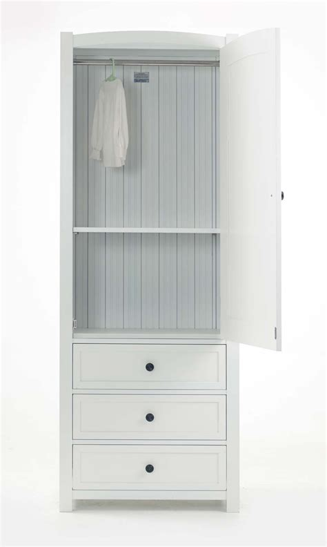 White Wardrobe With Drawers by 15 Best Collection Of Single White Wardrobes With Drawers