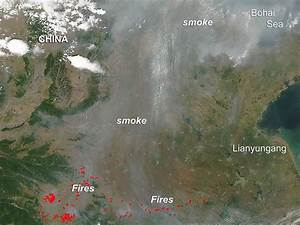 NASA image: Fires in eastern China