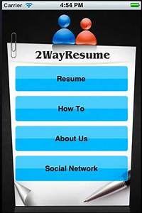 Create a killer cv with 2wayresume for iphone for Create a killer cv with 2wayresume for iphone