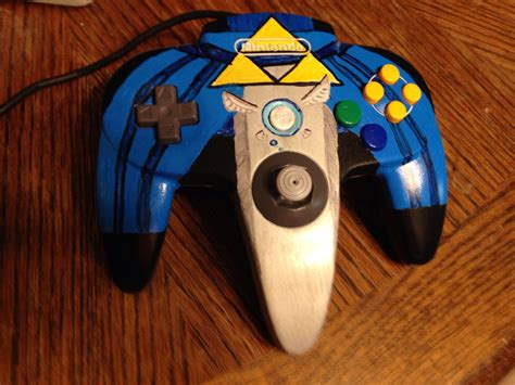 Master Sword Themed Nintendo 64 Controller From The Legend