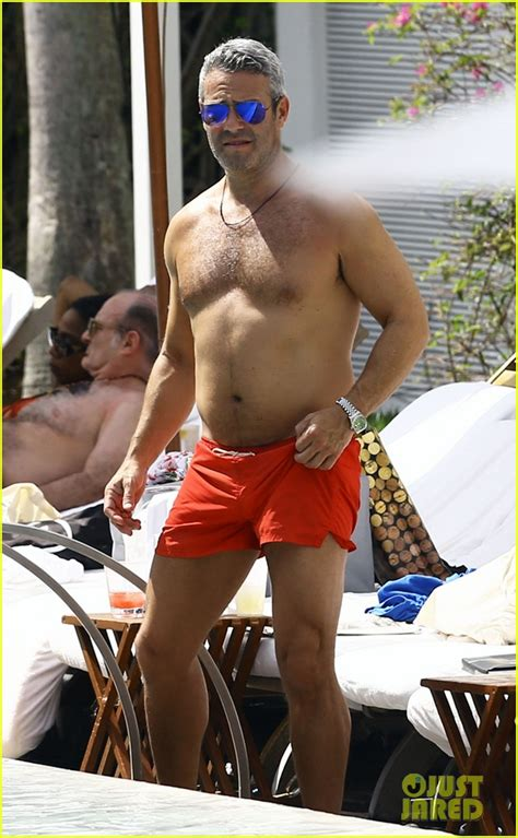 andy cohen  shirtless  easter vacation  miami