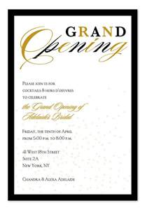 reception cards wording grand opening confetti corporate invitations by