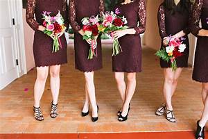 Purple Bridesmaids Dresses Black Shoes - Elizabeth Anne ...