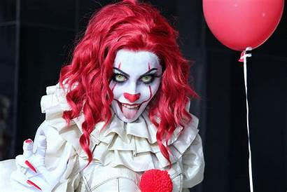 Pennywise Clown Horror Cosplay Woman Redhead Wallpapers