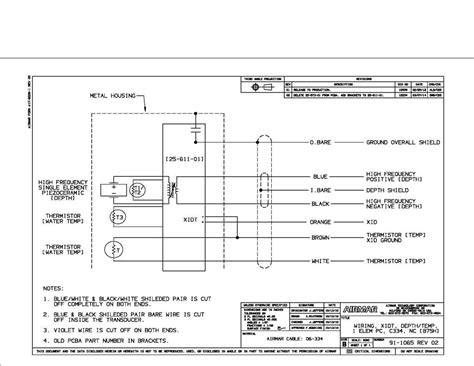 Airmar Transducer Wiring Diagram by Airmar B75h To Lowrance Pigtail Wiring Problem