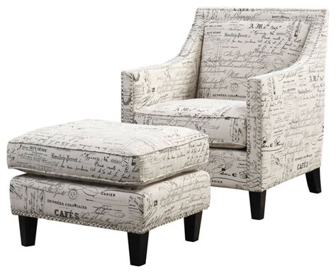script chair and ottoman emery chair and ottoman script transitional