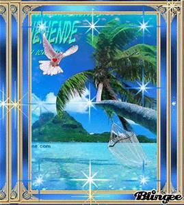 Bilder Von Palmen : das wundersch ne blaue meer die palmen laden zum wundersch nen tr umen ein bild 131731760 ~ Frokenaadalensverden.com Haus und Dekorationen