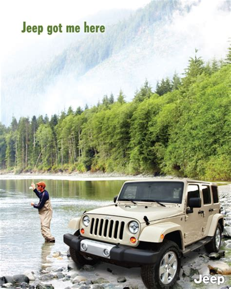 jeep wrangler ads jeep ad fishing creative ads and more