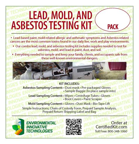 lead mold  asbestos testing kit