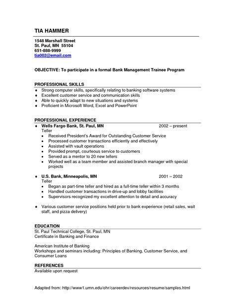 resume objective for bank teller skill resume bank teller resume sles bank teller skills and qualifications bank teller