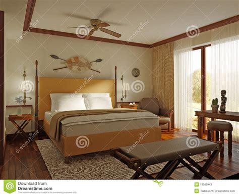 african style bedroom stock illustration illustration