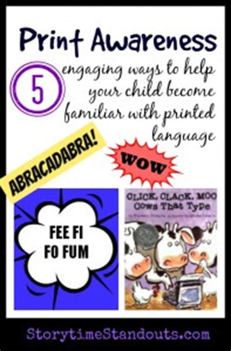 print awareness 5 ways to help your child with printed 980 | Print Awareness 197x300