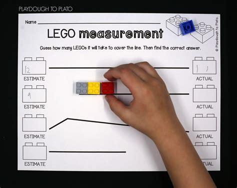 lego measurement playdough to plato 553 | LEGO measuring Fun measurement activity.