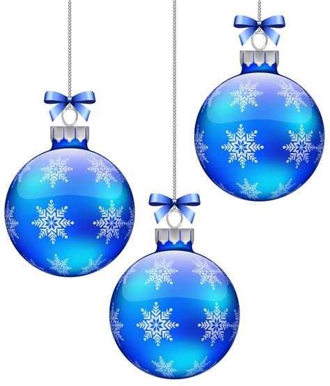 blue christmas decorations clipart   cliparts