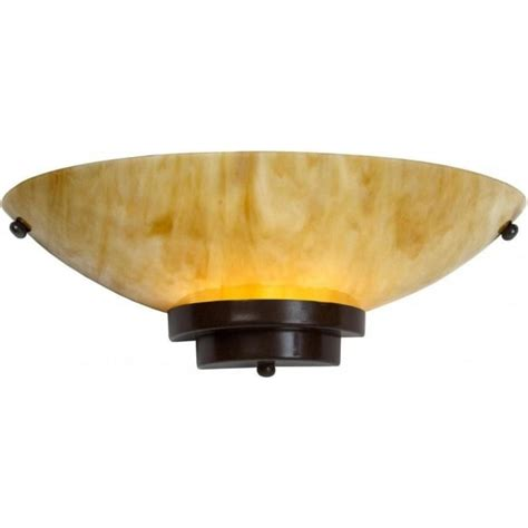 amber marbled glass flush fitting wall light in 1920 s art