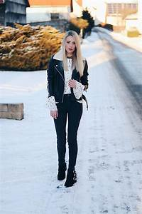 Schwarze Lederjacke Kombinieren : laura simon y a s black leather jacket rinascimento black white blouse zara black high waist ~ Orissabook.com Haus und Dekorationen