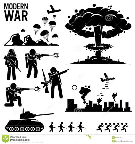 War Clipart War Modern Warfare Nuclear Bomb Soldier Tank Attack
