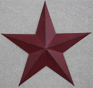 New americana metal star quot country wall decor rustic red