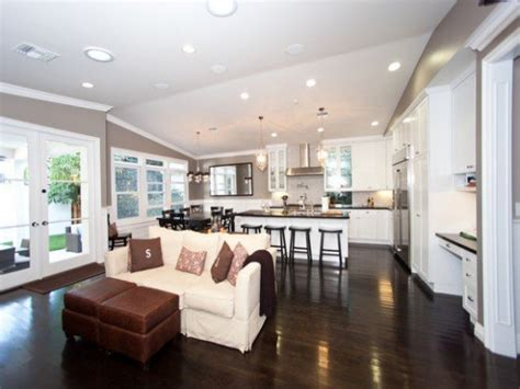 hgtv photo gallery open concept kitchen  family room