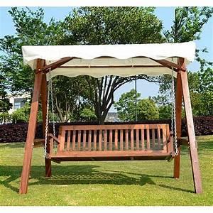 Balancelle De Jardin En Bois : balancelle de jardin 3 places topiwall ~ Teatrodelosmanantiales.com Idées de Décoration