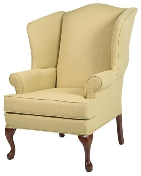 erin yellow wing back chair traditional chairs by