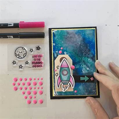 Interactive Paper Elements Card Stamp Tombowusa Foam