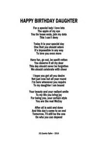 Happy Birthday Daughter Poem