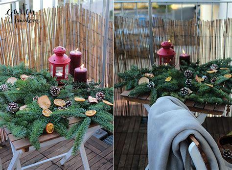 Weihnachtsdeko Garten by Weihnachtsdeko Auf Dem Balkon Garten Fr 228 Ulein