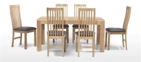 wooden dining table and 6 chairs cube oak 160 cm dining table and 6 chairs quercus living