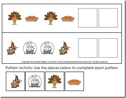 thanksgiving preschool free printables confessions of a