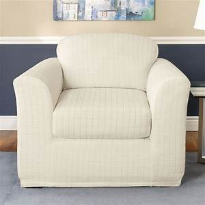 sure fit slipcovers stretch squares chair slipcover atg With stretch sure fit furniture covers