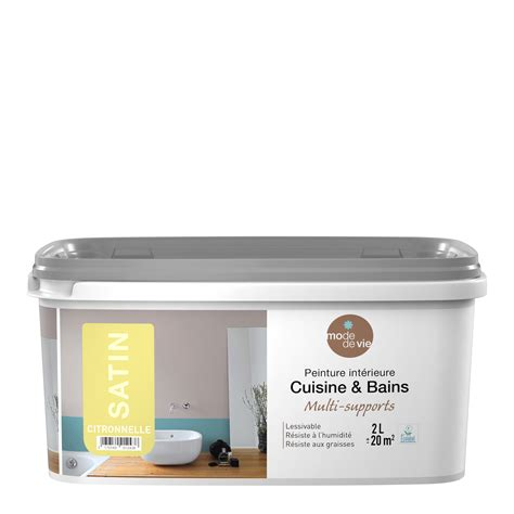 cuisine et vie peinture cuisine et salle de bain mode de vie citronnelle