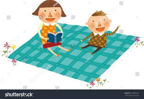 Sitting On The Mat - view children sitting on mat stock vector 190005281