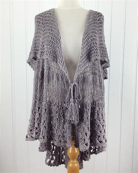 East Hampton Vintage Cape Crochet Pattern  Yarns, East