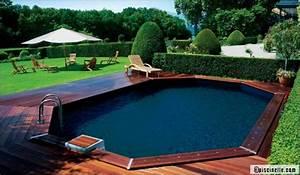Piscine Semi Enterré Bois : piscines en bois la solution nature ~ Premium-room.com Idées de Décoration