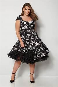 Bon Price Mode : hell bunny robe natalia noire fleurs grande taille 44 60 ~ Eleganceandgraceweddings.com Haus und Dekorationen