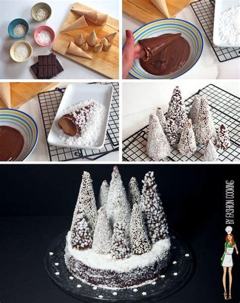 tree forest cake la b 251 che de no 235 l revisit 233 e for 234 t de sapins enneig 233 s marrons chocolat