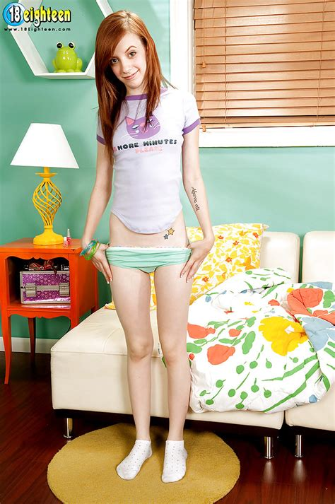 Young Cutie Josie Deville Takes Off Panties To Show Her