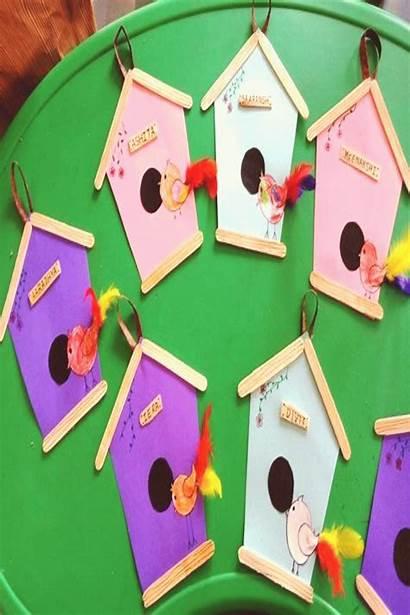 Preschool Crafts Month Pentagon Craft Bird Shape