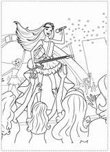 Coloring Pages Princess Barbie Rock Star Birthday Popstar Printable Spy Rockstar Cartoon Colouring Printables Template Kolorowanki Squad Adult Books Fairy sketch template